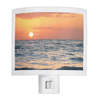 Beach Themed Night Light Sunset