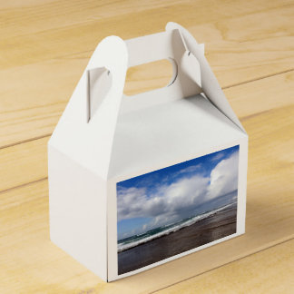 Beach themed party favor box