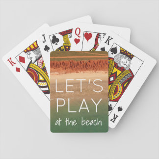 Beach Themed Playing Cards with Quote
