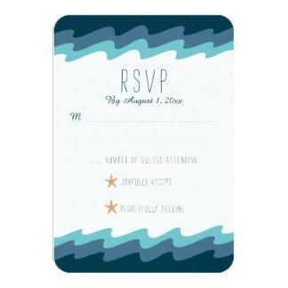 Beach Themed RSVP Card - Blue Wave