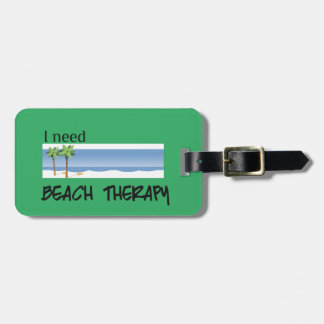 Beach Therapy Luggage Tag