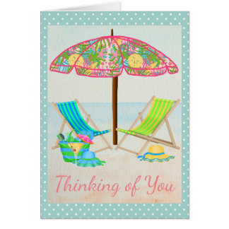 Beach Thinking of You Card