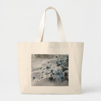 Beach thistle large tote bag