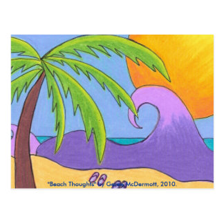 Beach Thoughts Postcard