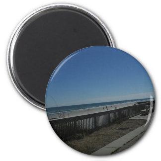 Beach Time 2 Inch Round Magnet
