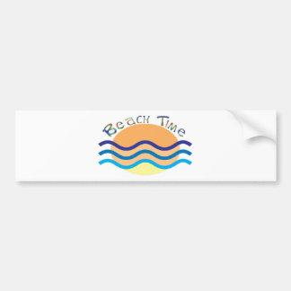 Beach Time Bumper Sticker