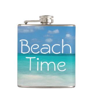 Beach Time! Hip Flask