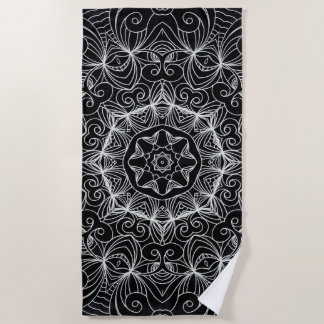 Beach Towel Drawing Floral Doodle G10