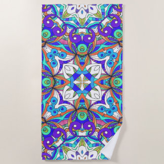 Beach Towel Drawing Floral Doodle G3