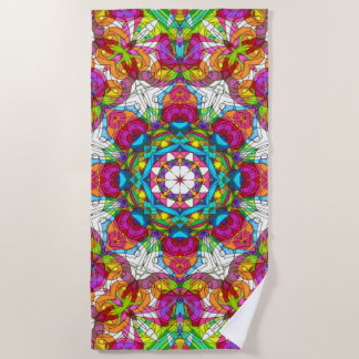Beach Towel Drawing Floral Doodle G30