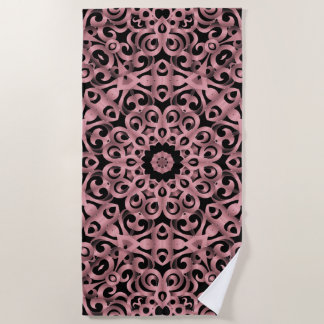 Beach Towel Floral Wrought Iron G93