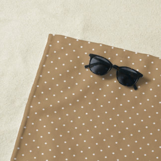 Beach Towel Gold with White Dots