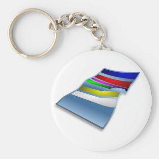 Beach Towel Keychain