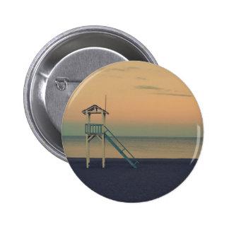 Beach Tower Sunset 2 Inch Round Button