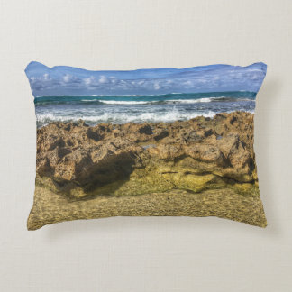 Beach Tranquility~Pillow by Jacqueline Kruse Decorative Pillow