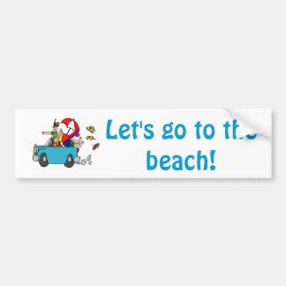 Beach Trip Bumper Sticker