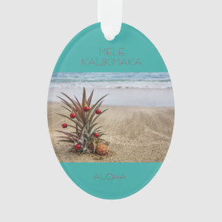 Beach Tropical Pineapple Christmas Ornament