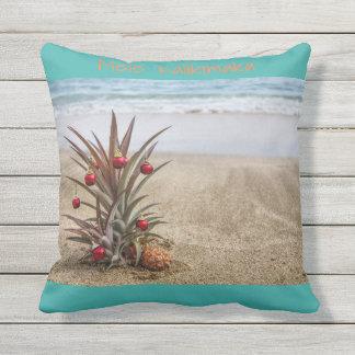 Beach Tropical Pineapple Christmas Pillow