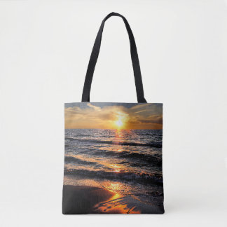 Beach Tropical Sunset Tote Bag