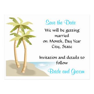 Beach Tropical Wedding Save the Date Postcard