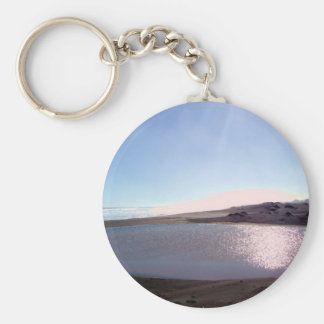 """Beach Twilight"" Basic Round Button Keychain"