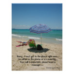 Beach Umberella poster