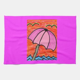 Beach Umbrella Hand Towel