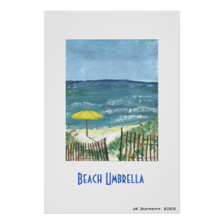 Beach Umbrella Poster