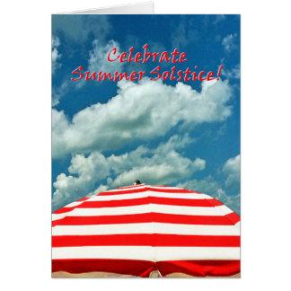 Beach Umbrella Summer Solstice Greeting Card