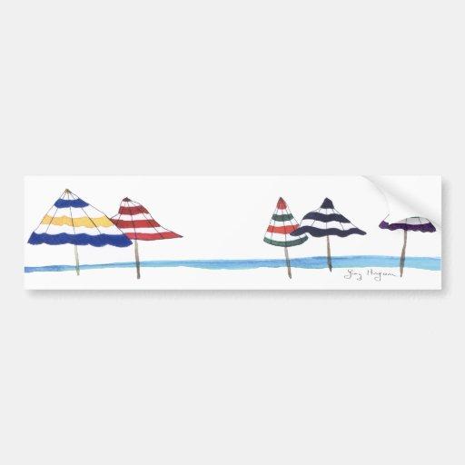 Beach Umbrellas Bumper Sticker