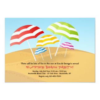 Beach Umbrellas Invitation