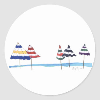 Beach Umbrellas Sticker