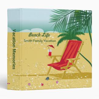 Beach Vacation Memories Vinyl Binders