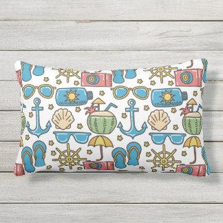Beach Vacation Pattern throw pillows