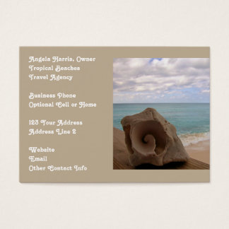 Beach Vacation Travel Agency Business Card