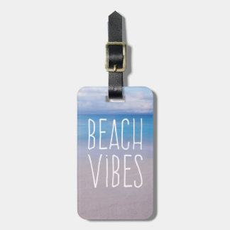 Beach Vibes Ocean Paradise Vacation Luggage Tag