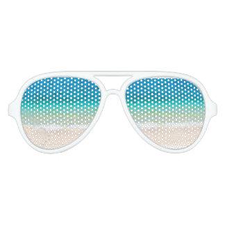 Beach Vibes Ocean Sea Waves Sand Aviator Sunglasses