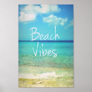 Beach vibes poster