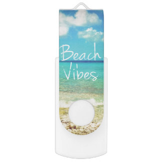 Beach vibes USB flash drive