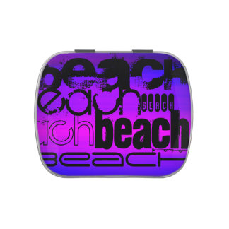 Beach; Vibrant Violet Blue and Magenta