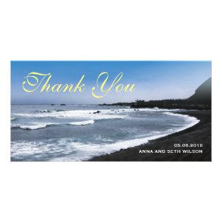 Beach View Thank You Photo Card