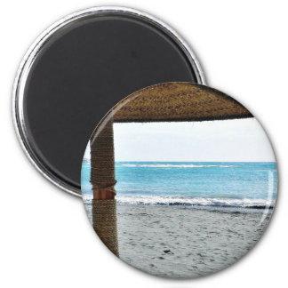 Beach View Under Parasol Magnet