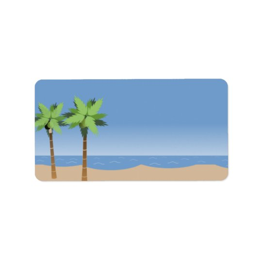 Beach Vista Blank Labels