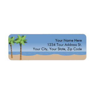Beach Vista  Return Address Labels