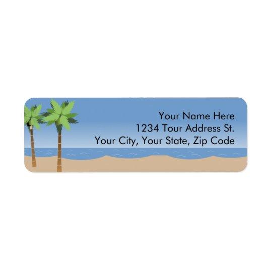 Beach Vista  Return Address Labels