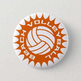 Beach Volleyball 2 Inch Round Button