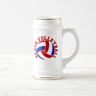 Beach Volleyball Beer Stein