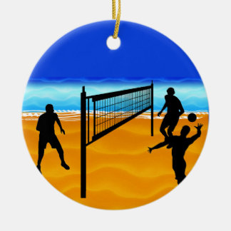 Beach Volleyball Ceramic Ornament