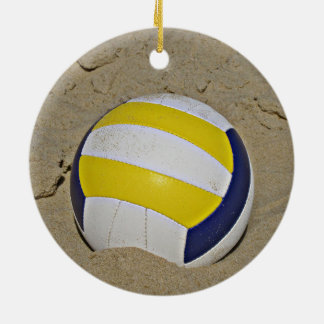 BEACH VOLLEYBALL PHOTO CERAMIC ORNAMENT