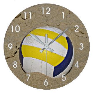 BEACH VOLLEYBALL PHOTO CLOCK